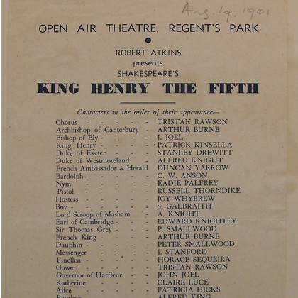 Claire Luce in Henry V